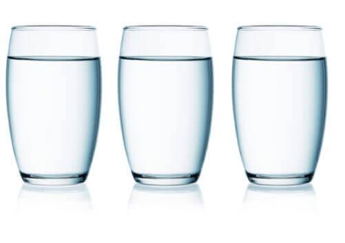 tre bicchieri